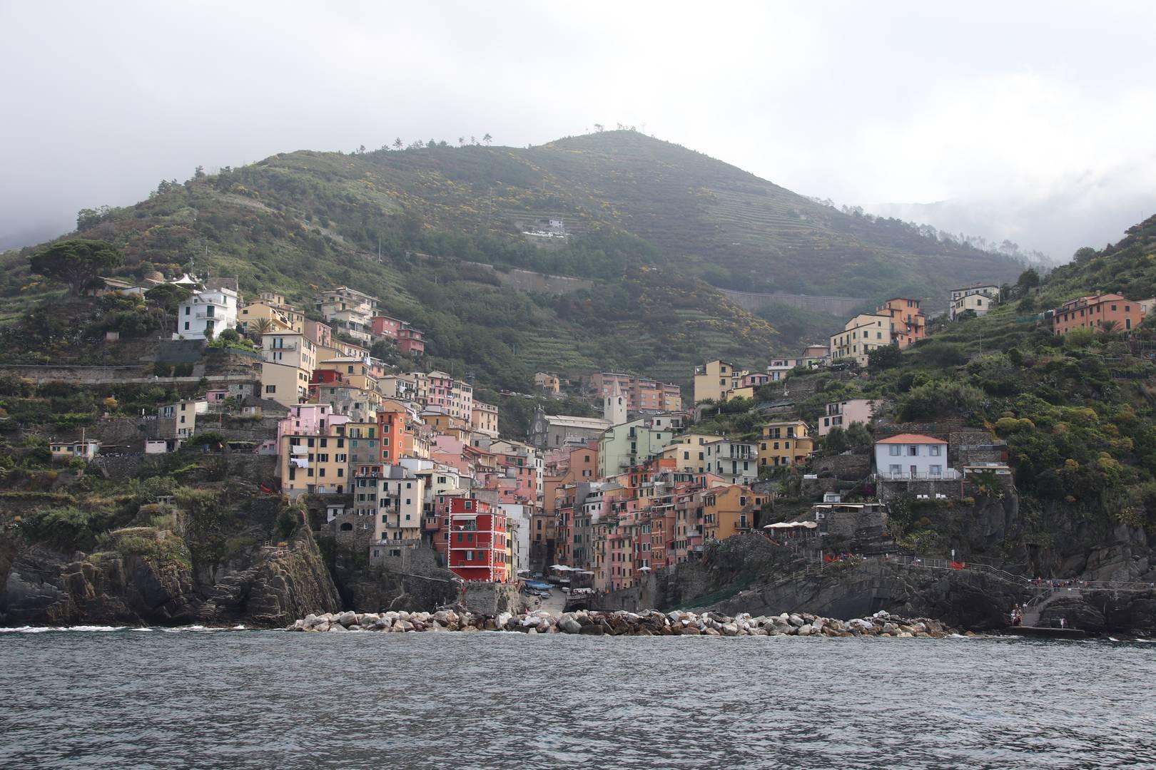 Italie - Village de Riomaggiore, parc des cinque terre