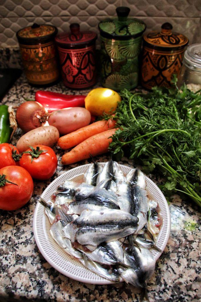 Maroc - Recette - Tajine de sardines ingrédients
