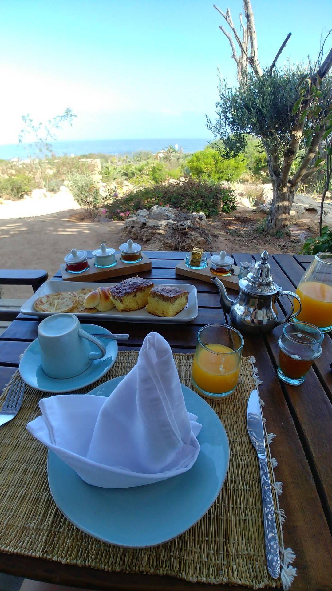 Maroc - Petit déjeuner à l'Azalai Beach Cottage