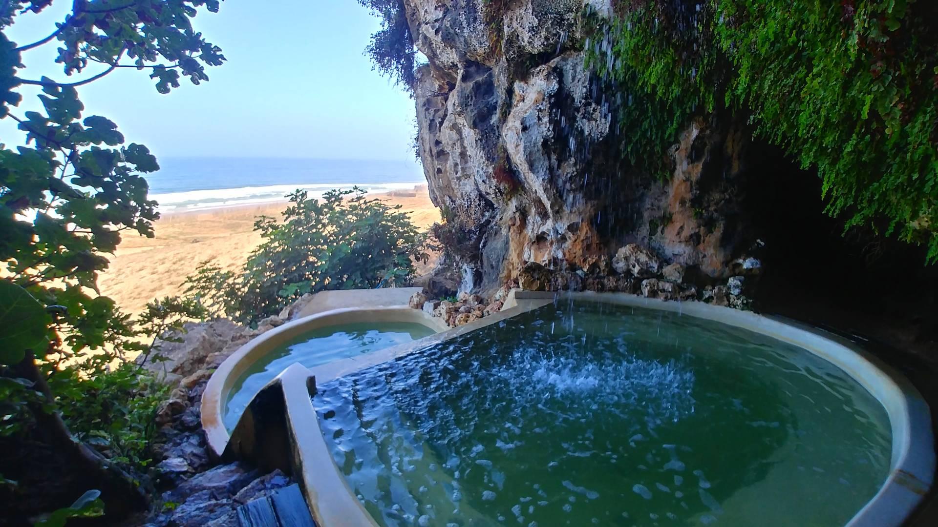 Maroc - Piscine naturelle de l'Azalai Beach Cottage