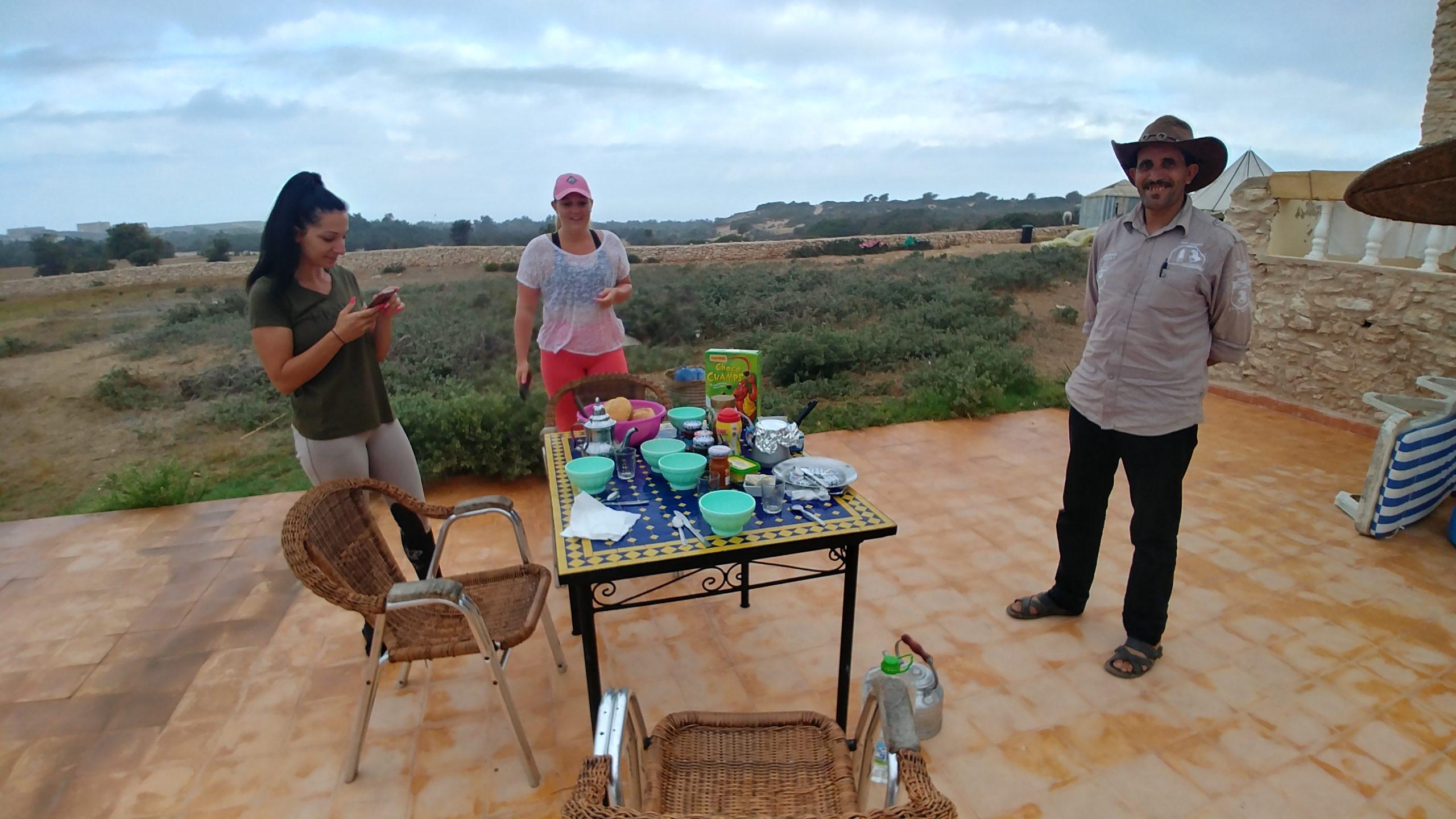 Maroc - Petit-déjeuner à l'auberge de Sidi Kaouki