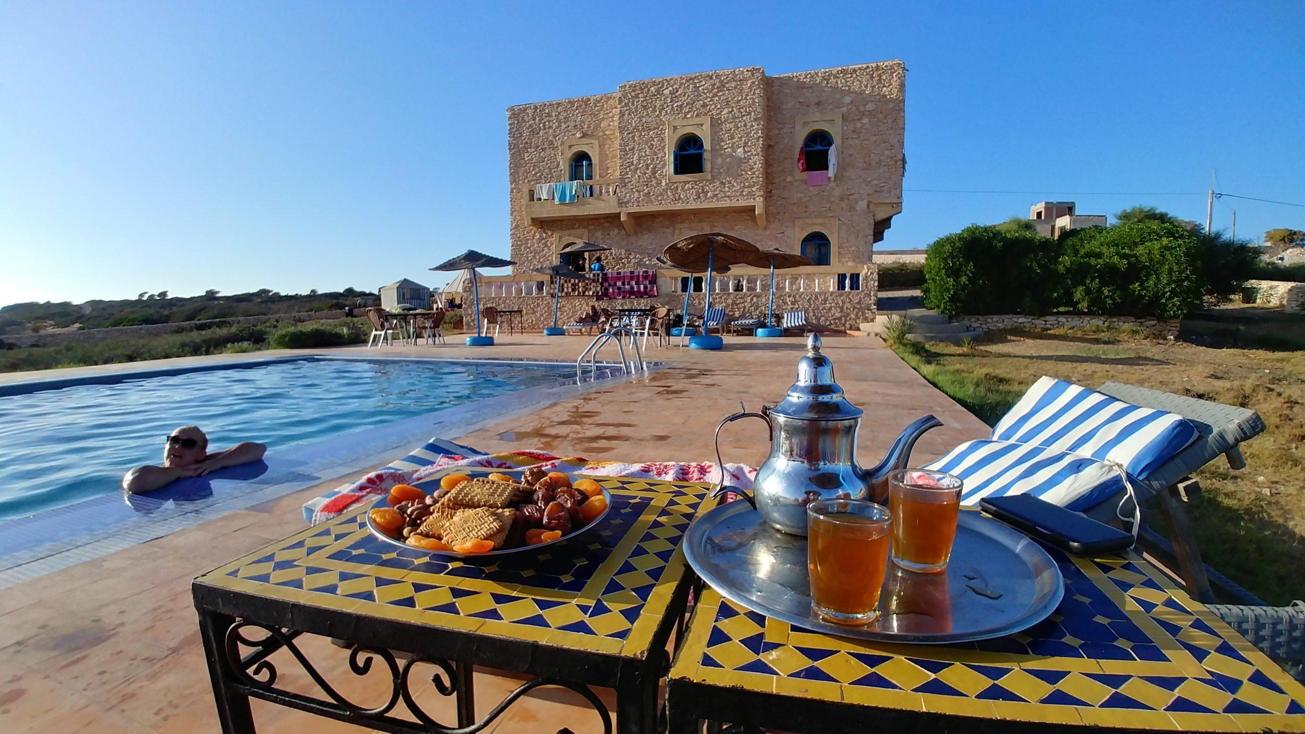 Maroc - Goûter à l'auberge de Sidi Kaouki