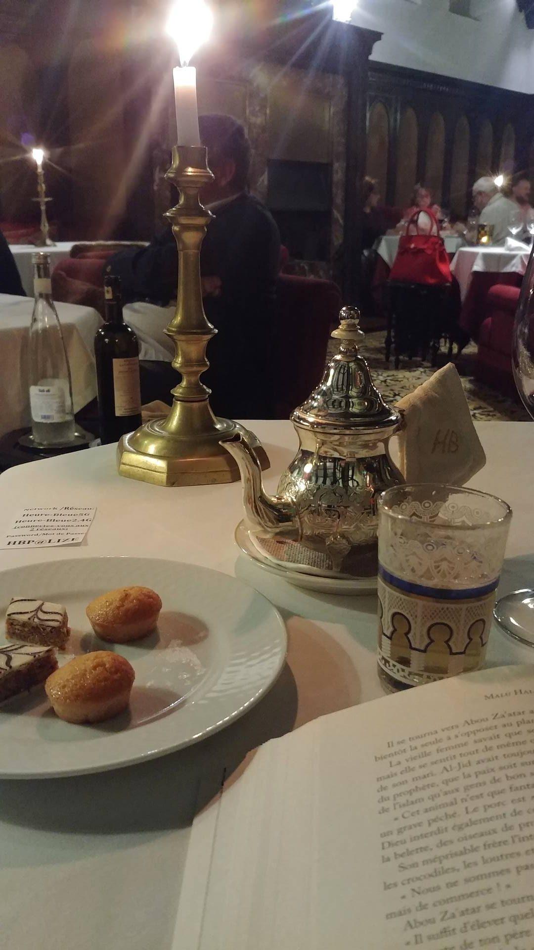 Maroc - Thé à la menthe à l'Heure Bleue