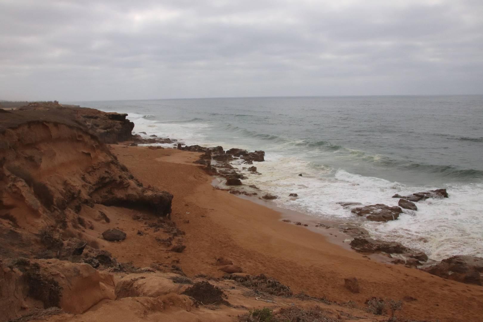 Maroc - Plage sauvage de la côte atlantique à côté de Oualidia