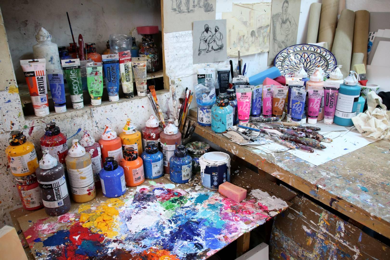 Maroc - Atelier d'artiste dans la médina d'Essaouira