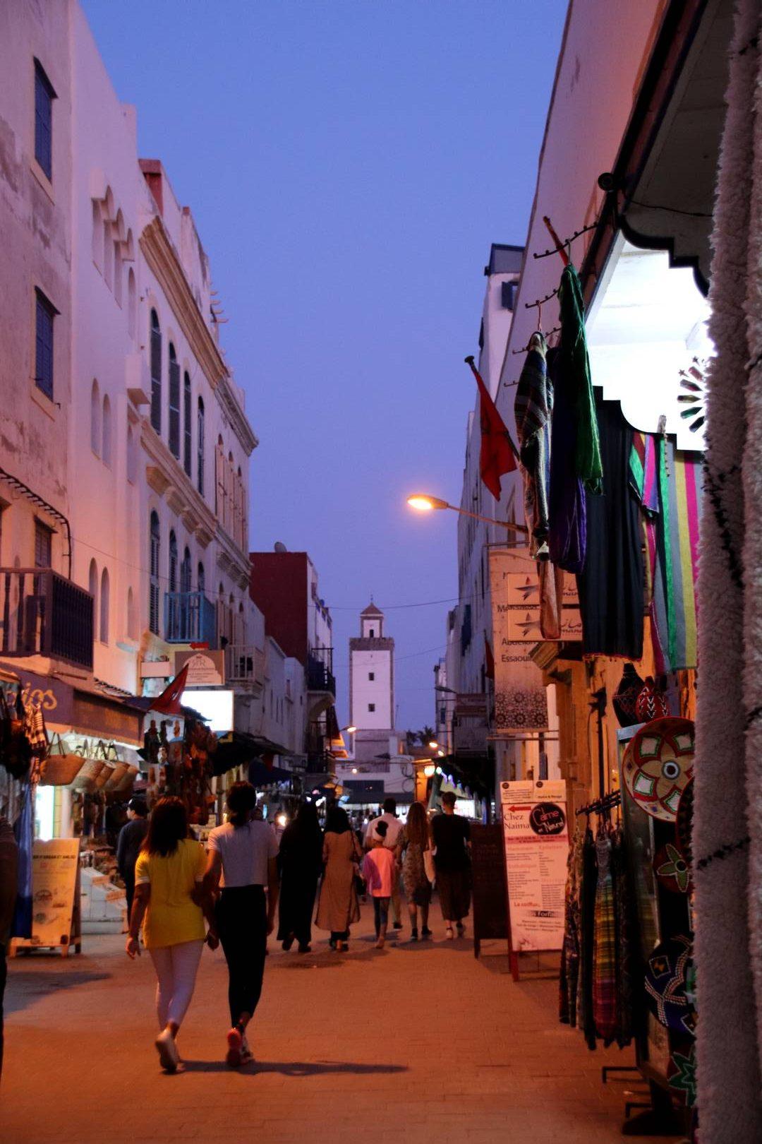Maroc - Médina d'Essaouira de nuit