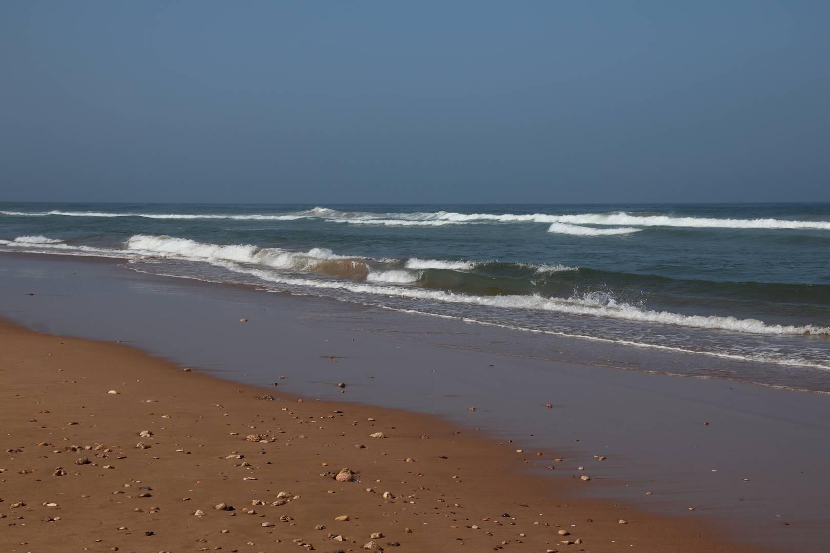 Maroc - Plage déserte au Sud d'Essaouira